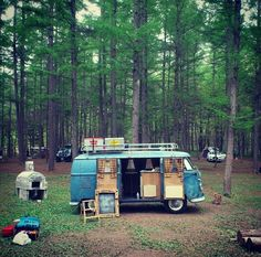 Wouldn't it be fun to camp in a converted VW Van?