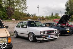 ... White Volkswagen Golf Mk2 G60