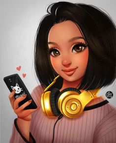 portrait art ArtCorgi - Stylized Portraits art commission by Awdrey 3 Drawings Of Black Girls, Girly Drawings, Cute Girl Drawing, Cartoon Girl Drawing, Black Love Art, Black Girl Art, Sarra Art, Mode Poster, Black Girl Cartoon