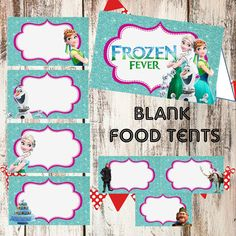 FROZEN FEVER Food Tents cards Instant by TwentyToesDesigns on Etsy  sc 1 st  Pinterest : ariel tent - memphite.com