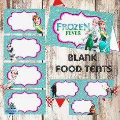 FROZEN FEVER Food Tents cards Instant by TwentyToesDesigns on Etsy  sc 1 st  Pinterest & Disney Little Mermaid Food Labels Little Mermaid Ariel Tent Cards ...