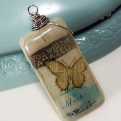 Glass tile pendant tips  http://savedbylovecreations.com/2012/01/glue-free-drill-free-way-to-hang-pendants.html