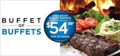 Las Vegas Buffet Deal! $54.99 for 24hr access to 5 buffets!