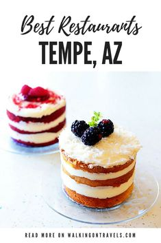 Tempe Restaurants bring fresh flavors, great southwest recipes, mini cakes, ice cream sandwiches, Mexican tacos, bruschetta, pancakes and designer crepes to the desert. #tempearizona