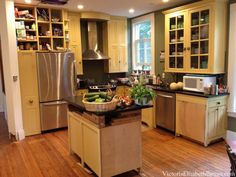Planning our DIY kitchen remodel... Before-photos of the previous owner's crazy design and addition.