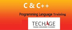 Join TEchAge Academy For C Language and C++ Training in Noida Location our Industrial Expert Trainer.Call for Details: +91-9212043532, +91-9212063532 Visit: http://www.techageacademy.com/courses/C++