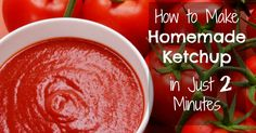 Ketchup is the king of all condiments. Unfortunately, most commercial varieties of ketchup contain high fructose corn syrup. HFCS has no real nutritional value and causes a big spike in blood sugar when consumed. Real Food Recipes, Cooking Recipes, Yummy Food, Healthy Recipes, Healthy Food, Homemade Ketchup, Homemade Sauce, Paleo Ketchup, Vegan Recipes