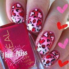 Cute Valentine's Day Nail Design
