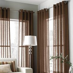 wholeHome CLASSIC (TM/MC) Lisbon Linen-look Semi Sheer Grommet Panel