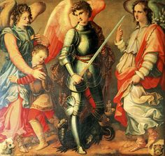 Michele Tosini, The Archangels Raphael, Michael, and Gabriel, 16th century