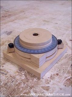 A DIY rotary table for a drill press.