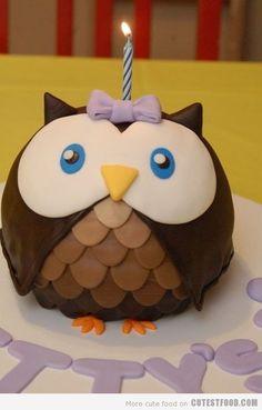 Birthday owl. What a hoot!! hahahaha :P
