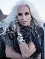 the secret of beauty and youthfulness of yasmina rossi Long Gray Hair, Silver Grey Hair, White Hair, Yasmina Rossi, Grey Hair Inspiration, Story Inspiration, Character Inspiration, Silver Haired Beauties, Coiffure Hair