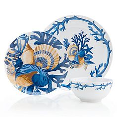Z Gallerie has created a sea-inspired sensation with our fantastic sapphire Del Mar Dinnerware-for camping :) China Painting, Ceramic Painting, Ceramic Art, Coastal Style, Coastal Decor, Affordable Modern Furniture, Porcelain Dinnerware, Ceramic Tableware, Home Decor Store