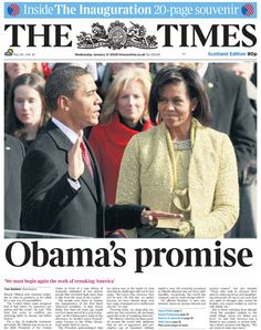 Barack Obama front page