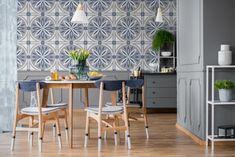 Flower Power Blue 8x8 Cement Tiles Cement Tiles, Mosaic Tiles, Tile Stores, Encaustic Tile, Bath Fixtures, Style Tile, Quartz Countertops, Flower Power, Portland