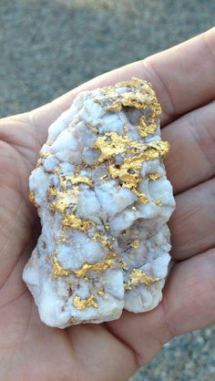 Gold and quartz, oh how I would LOVE to find this. Makes me want to go rockhounding right now  ........................................................ Please save this pin... ........................................................... Because For Real Estate Investing... Visit Now!  http://www.OwnItLand.com