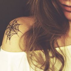 halloween set - spiders spiderweb bones crossbones // temporary tattoos – by christenstrang