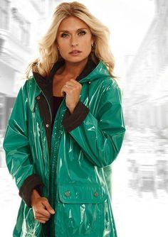 Turquoise PVC Raincoat