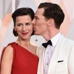 Benedict Cumberbatch Kissing Fiancee Sophie Hunter on Oscar 2015 Red Carpet