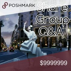 🌸Share Group Q&A!🌸 Hi all, welcome to my share group! I will post sign up sheets daily. Please use this listing for all questions and comments! Your closet must be Posh compliant to join! 🌟Sign up closes 2pm (EST) 🌟May start sharing at 5am your time 🌟Share 4 items 🌟Sign up by tagging your own name       (Ex: @rf012984) 🌟Please sign out after sign up sheet is closed 🌟Complete shares by midnight your time   If you suspect someone that signed up not sharing, please comment here…