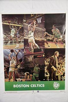 NBA Poster Boston Celtics 1977 White-Cowens-Scott-Havlicek-Rowe-Heinsohn Photo