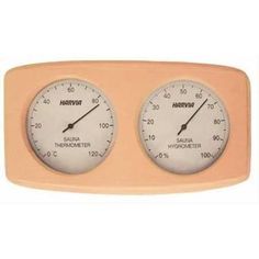 This reliable Harvia Thermo-Hygrometer gives you an easy way to keep an eye on both the sauna temperature and air humidity. Made in Finland.