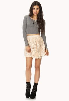 Romantic Floral Lace Skirt | FOREVER 21 - #F21CRUSH  #F21CRUSH