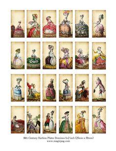 Marie Antoinette era 1700's French Revolution fashion plates
