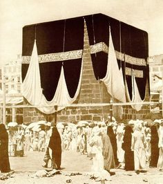 Early photo of #Kaaba  #Islam #Sufism #Muhammad #Mecca