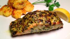This simple broiled salmon dish is full of flavor, thanks to the combination of tarragon and Italian parsley in the herb spread.