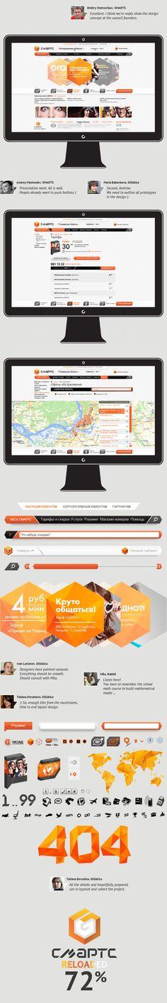 Site mobile operator SMARTS by Vladimir Khramov, via Behance