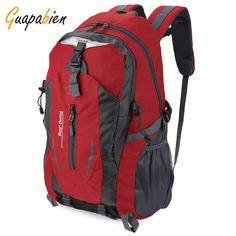 Guapabien 2016 New Fashion Out Door Nylon Women Men Bags Waterproof Travel  Backpack Mochilas Rucksack High Quality Big Backpack-in Backpacks from  Luggage ... 56a8aa666374a
