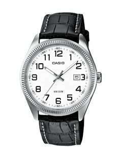 CASIO Collection MTP-1302L-7BVEF – Reloj de caballero de cuarzo, correa de piel color negro (con luz) | Your #1 Source for Watches and Acces...