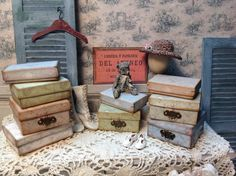 Tutorial to make shabby boxes