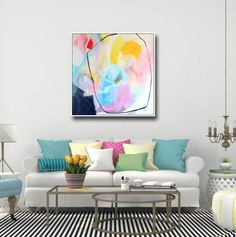 http://eepurl.com/yfcj5  Large Modern Abstract Canvas Wall Art Giclee Print from Painting