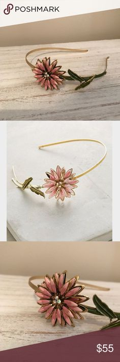 Anthropologie Nymphaea Headbabd NWOT an unworn & simply gorgeous headband featuring a beautiful flower to brighten your day (crystals in center of flower) Anthropologie Accessories Hair Accessories