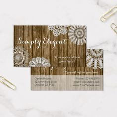 Rustic wood shabby grunge vintage painted boards business card crochet doilies on rustic wood simply elegant business card craft small business branding marketing reheart Image collections