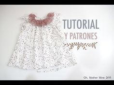 Costura: Vestido para niñas manga ranglan (patrones gratis), a family post from the blog Oh, Mother Mine DIY!! - YouTube on Bloglovin' Crochet For Kids, Sewing For Kids, Baby Sewing, Crochet Baby, Baby Shoes Pattern, Baby Dress Patterns, Sewing Clothes, Diy Clothes, Cute Dresses