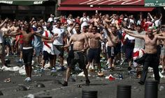 Euro2016 Russian fans against England fans and some locals from Marseille