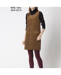 LOVE this FALL look =) CORDUROY SLEEVELESS DRESS