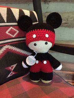 Really cute Mickey Big Head Baby Doll. Unfortunately I couldn't find the pattern…