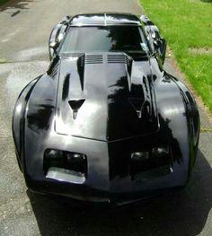 Visit The MACHINE Shop Café... ❤ Best of Corvette @ MACHINE ❤ (Black Beauty C3 Corvette Coupé)