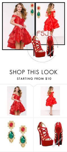 """FSJshoes - 4"" by dzemila-c ❤ liked on Polyvore featuring fsjshoes and fsj"
