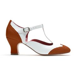 """""""23 Skidoo"""" 1920's Spectator T-Strap Leather Shoes from American Duchess - Pre-order on now!"""