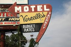 """Route 66 - Vernelle's. Located in Newburg, Missouri, this is another of the still operating motels on old Rt. 66 that date back to the 1930's.  """"The Fine Art Photography of Frank Romeo."""""""