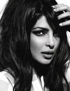 In the March 2013 issue of Vogue India, Bollywood film actress Priyanka Chopra reveals that she played quite a bit of Notorious B.G and The Fugees as a young rebellious girl. Indian Film Actress, Indian Actresses, Miss World 2000, National Film Awards, Beauty And Fashion, Vogue India, Indian Celebrities, Bollywood Celebrities, Female Celebrities