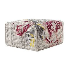 Give your Canevas living space a flowery touch with the Gan Rugs Flowers Square Pouf. The cover is made entirely out of felted wool, with felted yarns woven through in numerous X Square Pouf, Patricia Urquiola, Pouf Ottoman, Grey Carpet, Carpet Runner, Floral Motif, Home Textile, Lana, Manualidades