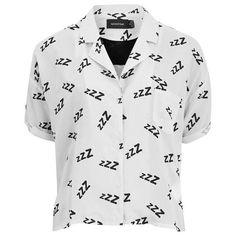 MINKPINK Women's 101 Sleeps Night Shirt (£15) ❤ liked on Polyvore featuring intimates, sleepwear, pajamas, shirts, tops, white, white nightgown, night shirt, white sleep shirt and short sleeve sleep shirt