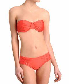 Ella Moss Solid Shirred Underwire Bikini | http://www.southmoonunder.com/Ella-Moss-Solid-Shirred-Underwire-Bikini/157506,default,pd.html?start=11=newarrivals-womens